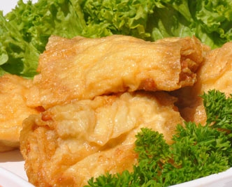 Fried Bean Curd Roll with Fish Paste Per Piece